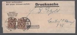 Deutsches Reich Infla Firmen-Streifband 1922 Braunschweig Nach Gersdorf MEF 208 Lot 567D - Deutschland