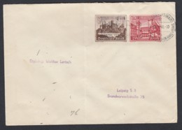Deutsches ReichBrief 1940 Frankfurt A.M. Nach Leipzig Zusammendruck ZD W144 Lot 572D - Zusammendrucke