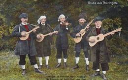 AK Gruss Aus Thüringen - Musikanten - Musikinstrumente Gitarre Geige - Ca. 1920 (39260) - Europa
