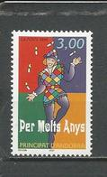 ANDORRE FRANCAIS Scott 489 Yvert 497 (1)  ** 1998 - Neufs