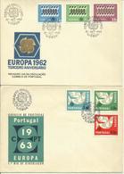1962-65  4 FDC Europa - Europe - FDC