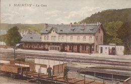 87- Malmedy -BAHNHOF- GARE - -eifel - Gares - Sans Trains