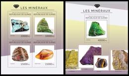 Guinea 2014 Minerals Klb + S/s MNH - Mineralen