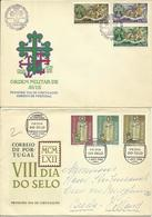 1962-63  4 Different FDC With Complete Sets - FDC