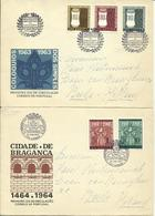 1964-65  4 Different FDC With Pairs Or Complete Sets - FDC