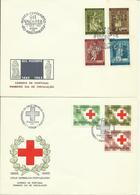 1964-65  4 Different FDC With Pairs Or Complete Sets - 2 Sent As Registered Letters To Breda, Holland - FDC