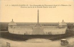 NEUVE CHAPELLE VUE D'ENSEMBLE DU MONUMENT ELEVE A LA MEMOIRE DES HINDOUS - Monuments Aux Morts