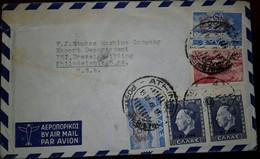 O) 1946 GREECE, KING GEORGE II SCT 486 600d- OVERPRINTED SURCHARGE, BRIDGE AT KONITSA SCT 449 5000d, ASPROPOTAMOS RIVER - Greece