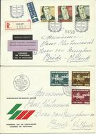 1964-65  4 Different FDC With Pairs Or Complete Sets - 3 Sent As Registered Letters To Breda, Holland  Fatima - FDC