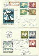 1967  4 Different FDC With Pairs Or Complete Sets - 1 Sent As Registered Letter To Breda, Holland  Reumatology - EFTA - FDC