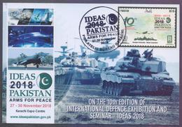 "PAKISTAN MAXIMUM CARD - ""IDEAS 2018"" 10th International Defence Exhibition At Karachi, Limited Issued - Pakistan"