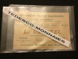 Lyon Carte De Visite Roussel Chantier Naval Lyonnais - Lyon