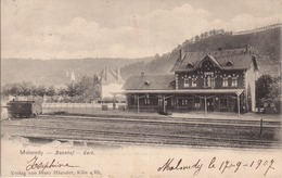 90- Malmedy -Bahnhof- GARE - -eifel - Stazioni Con Treni