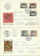 1968-69  4 Different FDC With Pairs Or Complete Sets - 1 Sent As Registered Letter To Breda, Holland - FDC