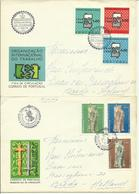 1968-69  4 Different FDC With Pairs Or Complete Sets - Sent As  LetterS To Breda, Holland - FDC