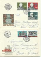 1970-71  4 Different FDC With Pairs Or Complete Sets - Sent As  LetterS To Breda, Holland - FDC