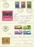 1971  4 Different FDC With Pairs Or Complete Sets - Sent As  Letters To Breda, Holland - FDC