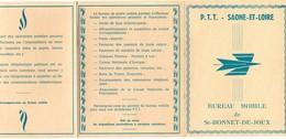 Carte De La Poste+ Pli BUREAU MOBILE DE ST-BONNET-DE-JOUX - 27-6-1983 - EXCEPTIONNEL - France