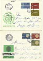 1970-71 2 Different FDC With Pairs Or Complete Sets - Sent As  Letters To Breda, Holland Europa - Europe - FDC