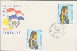 SCOUTS - PARAGUAY - 1984- GIRL GUIDES MNH +  ON ILLUSTRATED FDC - Scouting