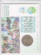 SCOUTS -  MALAYSIA - 2010 - GIRL GUIDES  1RINGIT NORDIC GOLD  COIN IN SPECIAL FOLDER - Malaysie