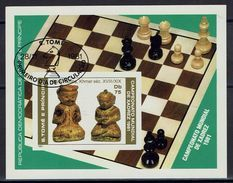 Schaken Schach Chess Ajedrez - Sao Tomé Und Principe - MiNr 711 Block 60B - Ongetand Imperforated - Schach