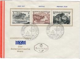 ÖSTERREICH 1962 - MiNr. 1123-1125 Wald Komplett FDC - FDC