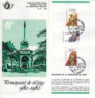 België O.B.C Postfolder   Nr 12 -  1980    1987 / 1989   Gosselies  (franstalig) - Entiers Postaux