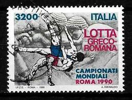 ITALIA - 1990 Campionati Mondiali LOTTA GRECO-ROMANA Usato - Lotta