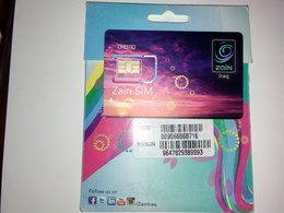IRAQ GSM CARD  COMPANY ZAIN , Larg Size. NEU UNUSED WITH ORIGINAL ACCESSORIES - Irak