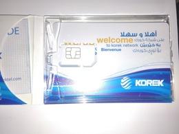 IRAQ GSM CARD  COMPANY KOREK. , LARG.  Size. NEU UNUSED WITH ORIGINAL ACCESSORIES - Irak