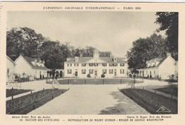 Exposition Coloniale Internationale Paris 1931, Section Des états Unis, Reproduction Du Mount Vernon (pk56096) - Exposiciones