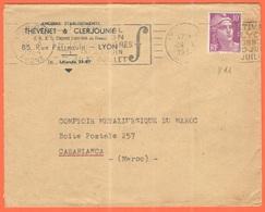 FRANCIA - France - 1954 - 10F Marianne De Gandon + Flamme Festival De Lyon-Charbonnières - Thévenet & Clerjounie - Viagg - Cartas
