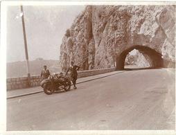 Photo Originale Moto Villefranche Mont Boron - Cyclisme