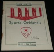 Rare Ancien Calendrier Sportif ASO Arago Sports-Orléanais 1949-1950, Sport Orléans 45, Publicités Anciennes Caricatures - Calendriers