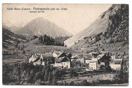CUNEO - VALLE STURA - PIETRAPORZIO - VALLONE Del PIZ - Sent 1915 To MONTEVIDEO - Places