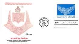 USA - FDC - 1987  YPSILANTI - LACEMAKING  RICAMO - Ersttagsbelege (FDC)