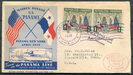 1939 Panama Line Ship Cover. S.S. PANAMA Maiden Voyage - Panama