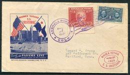 1939 Panama Line Ship Cover. S.S. CRISTOBAL Maiden Voyage - Panama