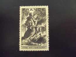 """1943   -timbre Oblitéré N° 584   """"    Victime De La Guerre  """"    Cote 0.65 Net 0.20 - Oblitérés"""