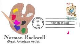 USA - FDC - 1994   STOCKBRIDGE - NORMAN  ROCKWELL - Ersttagsbelege (FDC)