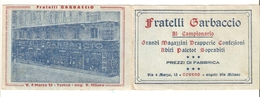 CAL--00001-- CALENDARIO PICCOLO TIPO PORTAFOGLIO ANNO 1930-PUBBL. FLLI. GARBACCIO-GRANDI MAGAZZINI-TORINO - Calendari