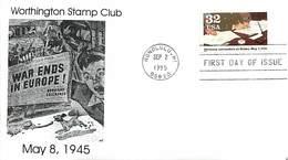 USA - FDC - 1995   HONOLULU - GERMANY SURRENDER - Ersttagsbelege (FDC)