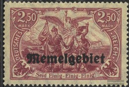 Memelgebiet 13 With Hinge 1920 Print Edition - Memel (Klaïpeda)