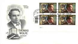 USA - FDC - 2000 - ASHEVILLE - THOMAS WOLFE - Ersttagsbelege (FDC)