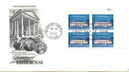 USA - FDC - 2000 - WASHINGTON -   WHITE HOUSE - Ersttagsbelege (FDC)