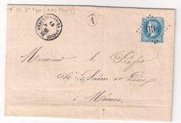 BEAUREPAIRE En BRESSE : Lettre De 1868 : Boite Rurale A   (NON Identifiée ) : Saône Et Loire - Marcophilie (Lettres)