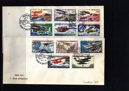 Monaco 1964 Airplanes (not Complete Set) FDC - Monaco