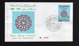 MAROCCO MOROCCO - FDC  1987 -  AMICIZIA CON STATI UNITI  USA - Marocco (1956-...)