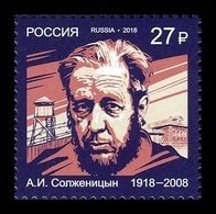 Russia 2018 Mih. 2636 Writer Alexandr Solzhenitsyn MNH ** - Unused Stamps